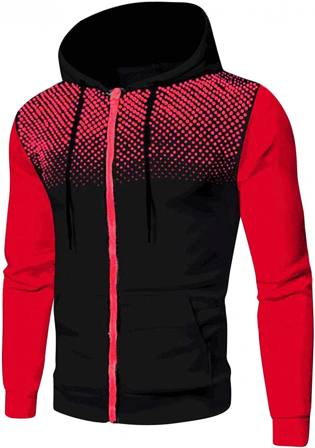 Qsctys Hoodie Fashion Denver Mall for Cheap sale Men Polka Casual Jack Loose Sports Dot