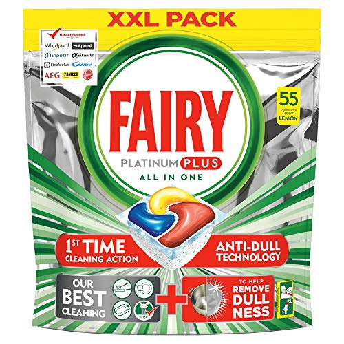 Fairy Platinum Plus - Pastillas lavavajillas 55 unidades
