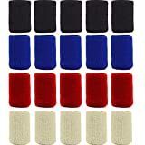 40PCS Sports Finger Splint Guard Bands Finger Sleeves Thumb Braces Support Elastic Compression Protector Braces for Relieving Pain Calluses Arthritis Knuckle