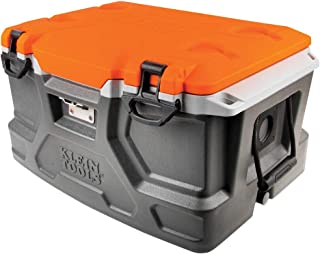 Klein Tools 55650 Lunch Box / Cooler, 48 Qt Insulated Cooler, Holds 72 Cans, Keeps Cool 30 Hours, Seats 300 Lb, Tradesman ...