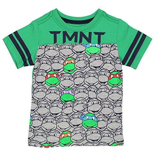 TMNT Boys Short Sleeve Tee, Extra Soft, 3T, 4T