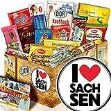 I Love Sachsen / DDR Korb Schokolade / Sachsen Liebhaber Präsent