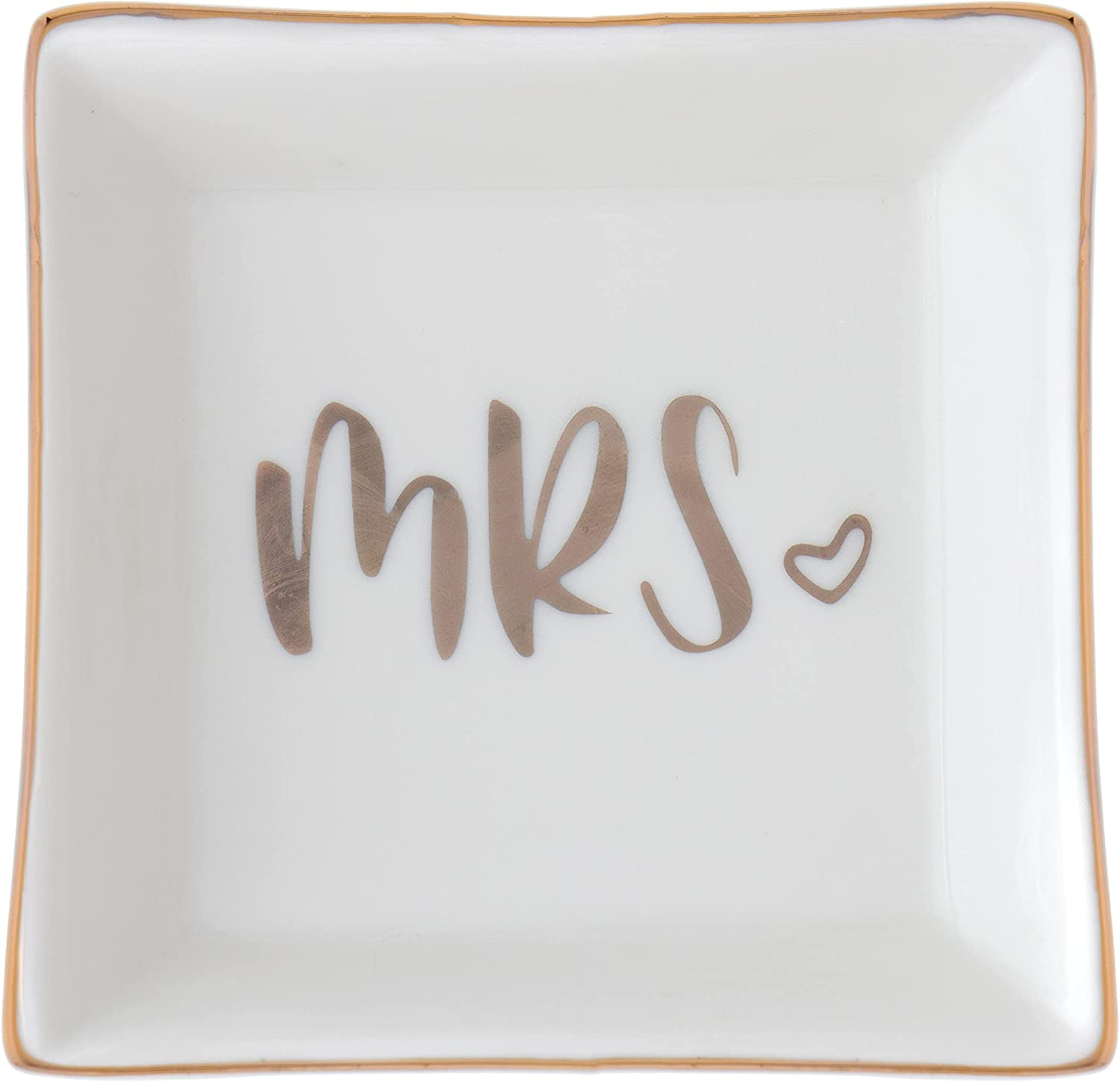 Mrs. Max 83% OFF Ring Dish Ceramic Jewelry Financial sales sale Holder Engagement Wedding Tray