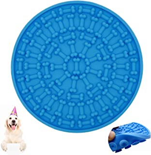 EZONEDEAL Dog Lick Pad, Dog Washing Distraction Device,Pet Bath Grooming Helper,Slow Treat Dispensing Mat-Super Strong Suc...