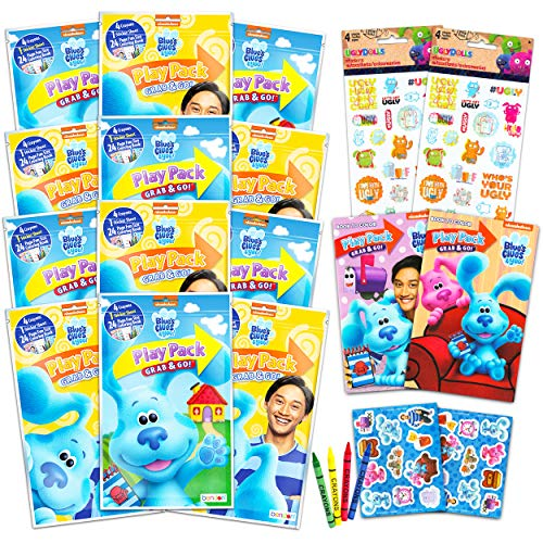 Blues Clues Party Favors Packs ~ Bundle Includes 12 Sets with Blue's Clues and You! Stickers, Coloring Books and Crayons (Blues Clues Party Supplies)