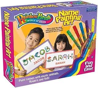 Rainbow Brush Name Painting, Medium