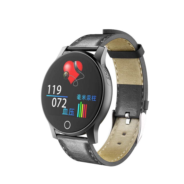 生息地独立して芸術的腕時計 PPG ECGスマートウォッチモニター血圧心拍数スマートウォッチBluetooth 5.0 防水マルチスポーツモード睡眠モニタリングスマートウォッチ 女性 男性