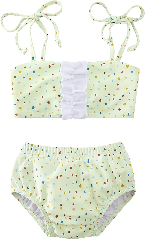 BFUSTYLE Baby Girls Bikini Swimsuit 2pcs Infant Toddler Floral Bathing Suit