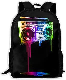 Melting Boombox Backpack Laptop Bags Shoulder Bag College Daypack Backpacks For Unisex