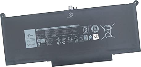 Fully F3YGT Replacement Laptop Battery Compatible with Dell Latitude 7280 Latitude 12 7000 Latitude 13 7380 Latitude 13 7480 fits 0DM3WC DM3WC 2X39G - 7.6V 60Wh