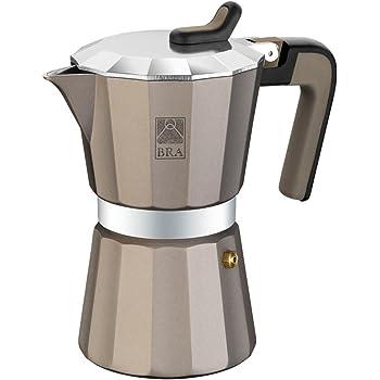 BRA Titanium - Cafetera, Capacidad 6 Tazas, Aluminio: Amazon.es: Hogar