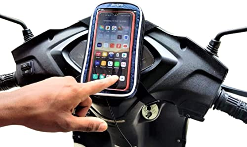 JETLIFE Mobile Holder Mount Pouch-bag for Scooters Activa Scooty | Hassle-Free-Ride (BLUE)
