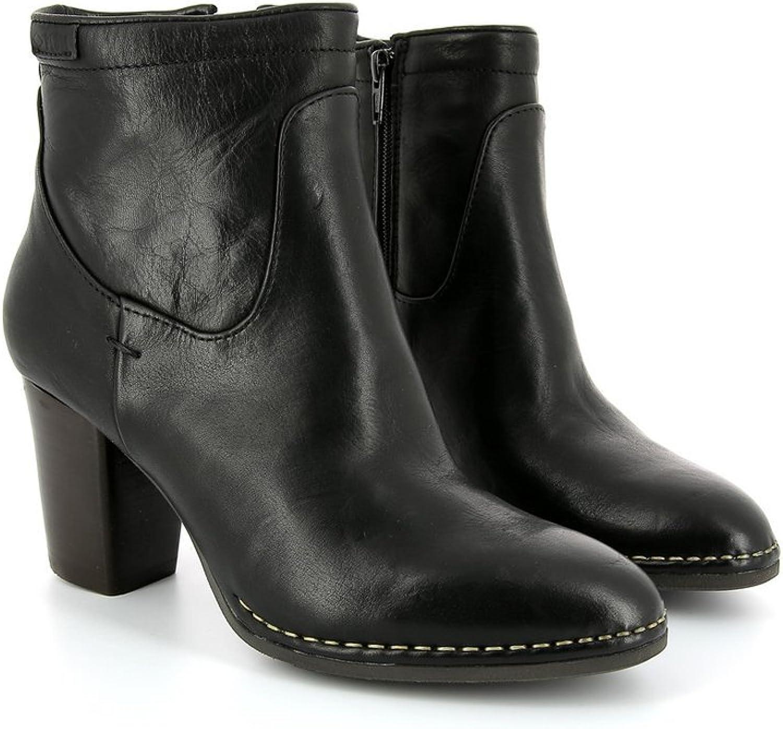 Women& 39;s palladium Oneside IBX Black Leather Boot Size 7.5 US 39 EU