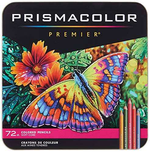 Prismacolor Premier Colored Pencils | Art Supplies for Drawing Sketching Adult Coloring | Soft Core Color Pencils 72 Pack