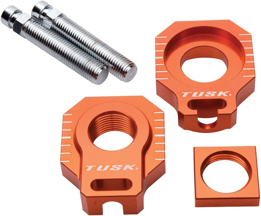 Tusk Racing Axle Block Orange Direct sale of manufacturer - EXC New product! New type Fits: KTM 2005 200