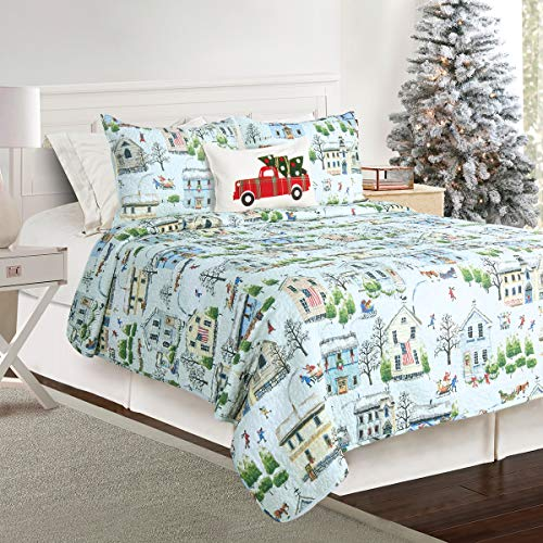 James Home Winter Village FQ Quilt Set Multicolor