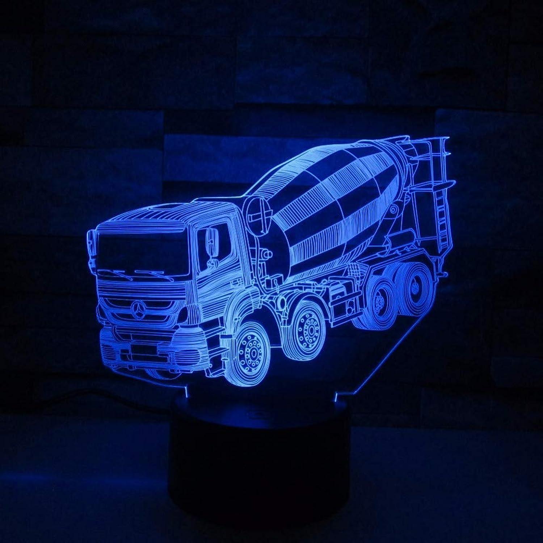 Zyue Mixer 3D Nachtlicht Led Remote Touch Switch 7 Farbwechsel 3D Lampe LKW Auto Baby Schlafatmosphre Lampe Als Geschenk des Kindes,Blautooth Stereo