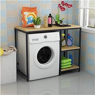 KOKOF Tambour machine à laver rack de type de sol ménage salle de bain étagère de balcon multifonction rack de rangement s...