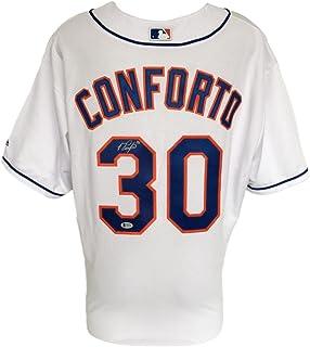 Michael Conforto Signed New York Mets Replica Majestic Baseball Jersey BAS