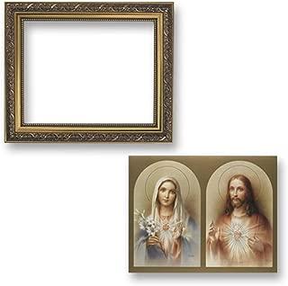 Gerffert Collection The Sacred Hearts Framed Landscape Print, 13 Inch (Ornate Gold Tone Finish Frame)