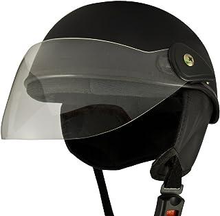 Anokhe Collections Racing Master PC Shell Women's Half Helmet (Matte Black)
