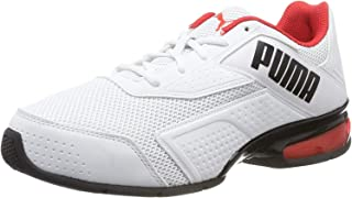 Puma Unisex's Leader Vt Bold White-high Risk Red Running Shoes