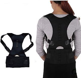 Unisex Adjustible Magnetic Posture Corrector Corset Back Brace Shoulder Lumbar Spine Support Belt