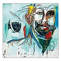 Jean Michel Basquiatジャンミシェルバスキアポスターグラフィティアートパネルキャンバス絵画インテリアポップアートパネルワークポスター抽象壁アートパネルプリント新表現主義者写真装飾40x40cmいいえフレーム