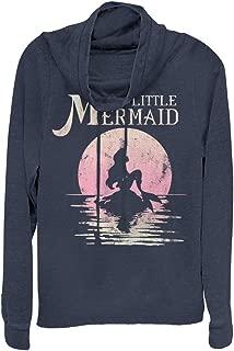 The Little Mermaid Juniors' Ariel Sunset Cowl Neck Sweatshirt