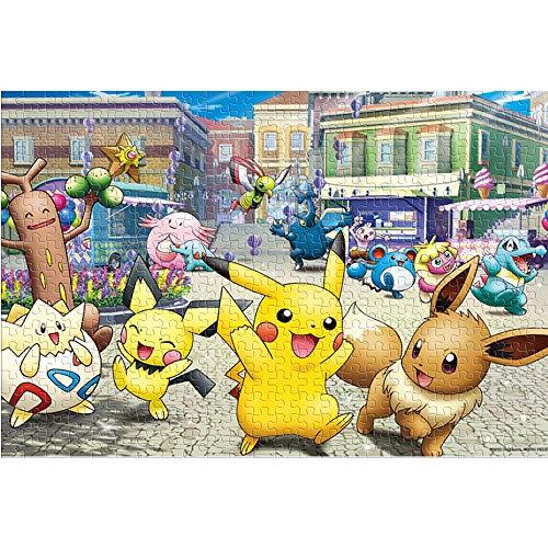 Puzzle für Erwachsene 1000 Teile Pokemon 1000 Stück Puzzle Wohnkultur Cartoons Logik Puzzle Kunst Gehirn Herausforderung Puzzle Spielzeug (52x38cm)