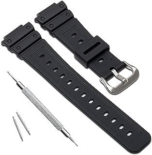 OliBoPo Natural Poly Urethane Replacement Watch Band Strap for Casio Mens G-Shock DW-5900 DW-6100 DW-6695 DW-6900 G-6900 GW-M5610 DW-5600E GW-6900