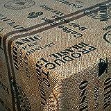 Wachstuch Wachstischdecke Tischdecke Breite und Länge wählbar Kaffeesack Braun Beige 140 x 110 cm Eckig abwaschbar Gartentischdecke