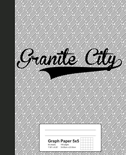 Graph Paper 5x5: GRANITE CITY Notebook (Weezag Graph Paper 5x5 Notebook, Band 2940)
