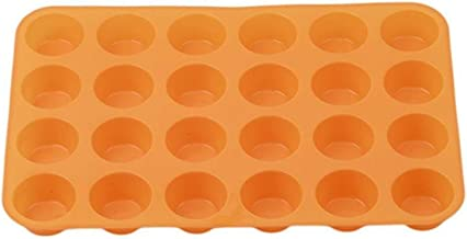 Bakeware Set Muffin Cup 24-Cavity Silicone Cake Mould Soap Cookie Cake Baking Equipment and Accessories Cookie Sheet (Colo...
