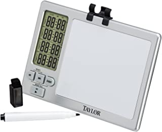 Taylor Precision Products Four-Event Kitchen Timer with Whiteboard (Large)