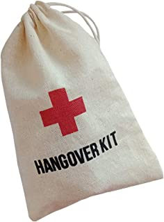 Bachelorette Survival Kit Bags,Hangover Kit 4x6 inches,Emergency Kit,Red Cross Survival Kit,Wedding Party Favor 12 Pcs Pack,First Aid Kit