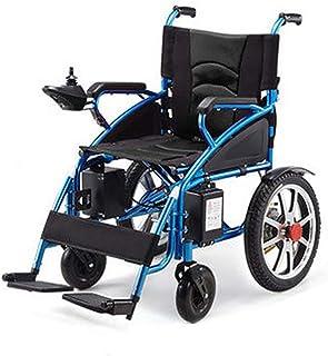 FTFTO Inicio Accesorios Silla de Ruedas eléctrica Plegable Ancianos Control Remoto Viaje Cuatro sillas de Ruedas Asiento de operación Simple Ajustable con función de Escalada Sistema de Frenos