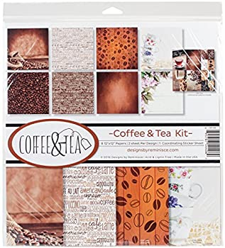 coffee themed scrapbook paper