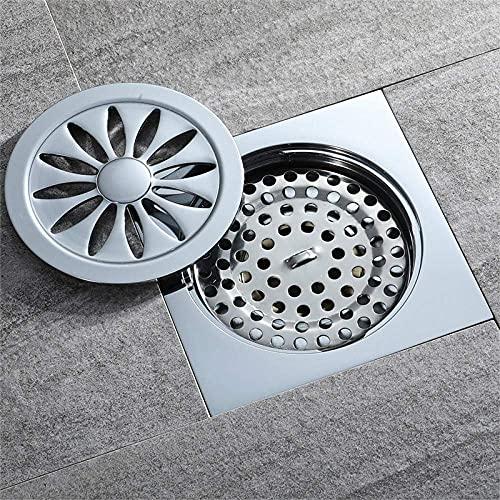 GPWDSN Desodorante de baño de Cobre en Forma de Flor y desagüe de Piso de Gran Flujo a Prueba de Insectos