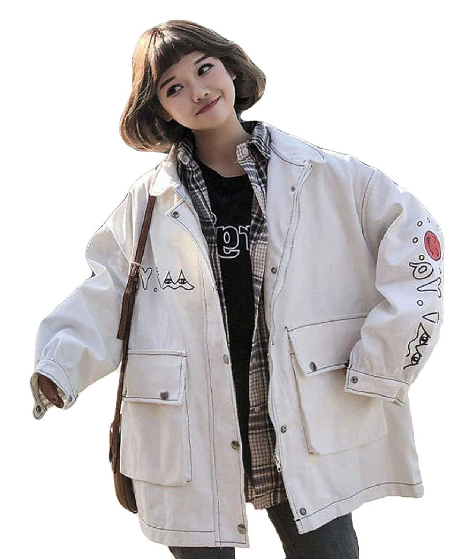 (ニカ) レディース ゆったり 綿 コート ジャケット コート レディース 春 秋 ファッション 韓国風 オーバーオール コート 大きいサイズ ジャケット 上着 長袖