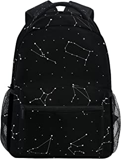 LORVIES Astrological Constellation Of The Zodiac Signs Casual Backpack School Bag Travel Daypack