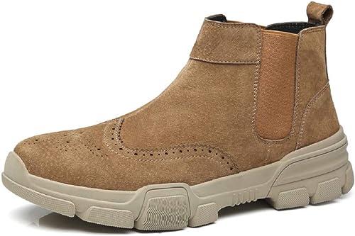MON5F Home Zapaño de Cuero de Moda para hombres de Negocios Zapaños Formales Talla Tamaño del Zapaño  CN38-CN44 (Color   marrón, Talla   CN39)