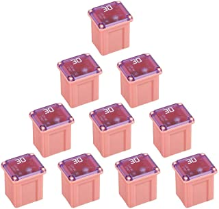 10 Pack FMX-30LP 30 Amp Low Profile Female Maxi Fuse 32Vdc Fit for Ford Chevy/GM Nissan and Toyota Pickup Trucks Cars and SUVs