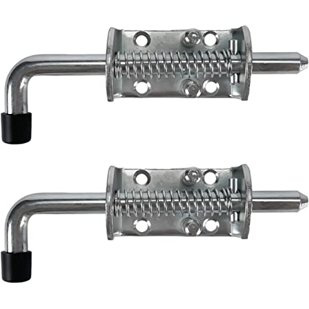 Heavy Duty Pack of 2 WorldPac 1//2 Spring Pin Latch Lock Assembly for Utility Trailer Gate