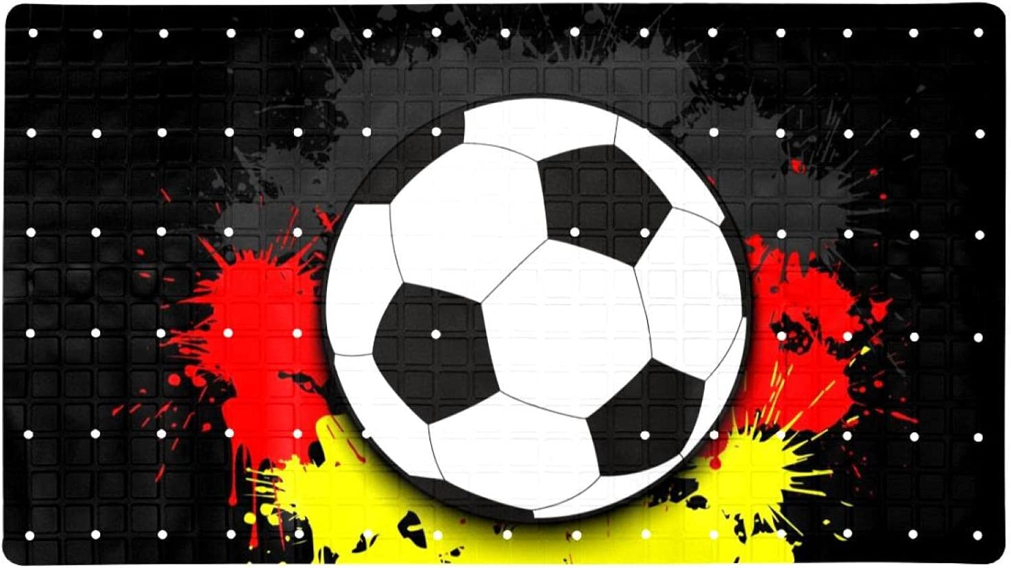 NEW before selling Bath Tub Colorado Springs Mall Shower Mat 15.7x27.9 inches Soccer Ball Flag Germany Ag