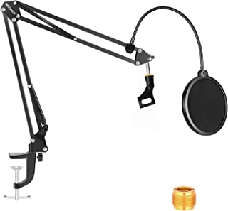 """Neewer NW-35 Microphone Boom Arm Kit, Microphone Scissor Arm Stand with Mic Clip, Pop Filter and 3/8"""" to 5/8"""" Adapter, Com..."""