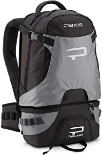 Paxis High-Tech Ergonomic Fishing and Photography Backpack - Black/Grey - Capacity: 30 Liters