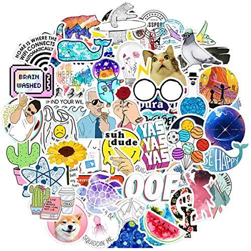 Jackify Sticker Pack (100 Stück), Graffiti Aufkleber Decals, Vinyl Sticker Geschenke Spielzeug für Laptop, Gepäck, Skateboard, MacBook, DIY Party Supplies Patches Decal
