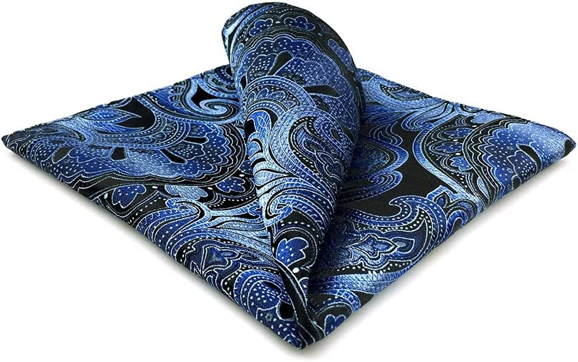 UXZDX CUJUX Mens Pocket Square Wedding Silk Handkerchief Party Hanky Classic Fashion (Color : A, Size : 32x32CM)