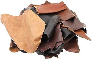 Morceaux de cuir de 1 kg - Différentes nuances de marron - Différentes tailles - Pièces artisanales idéales pour tous les ...